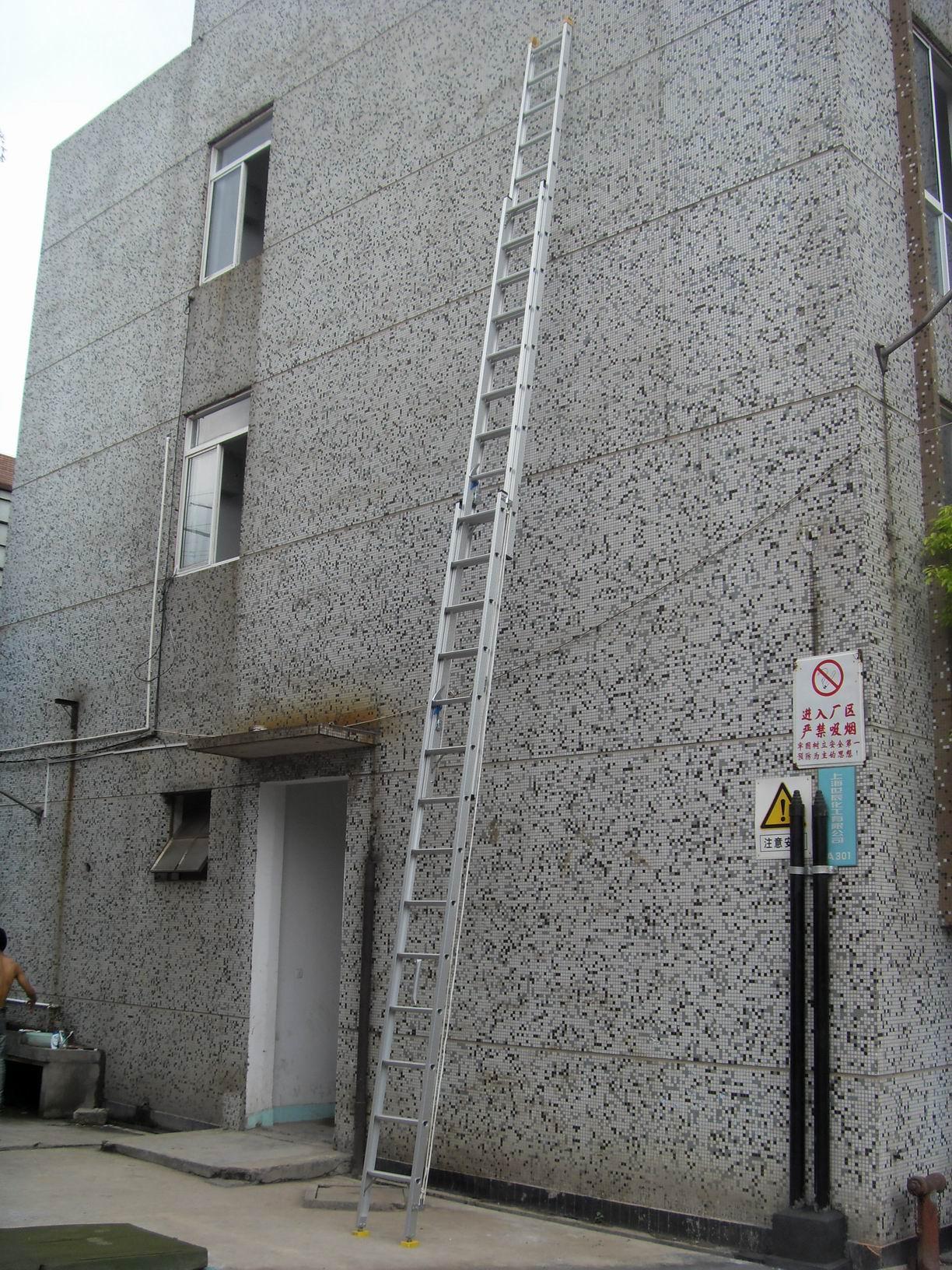 铝合金梯子 12米超高三节拉升梯