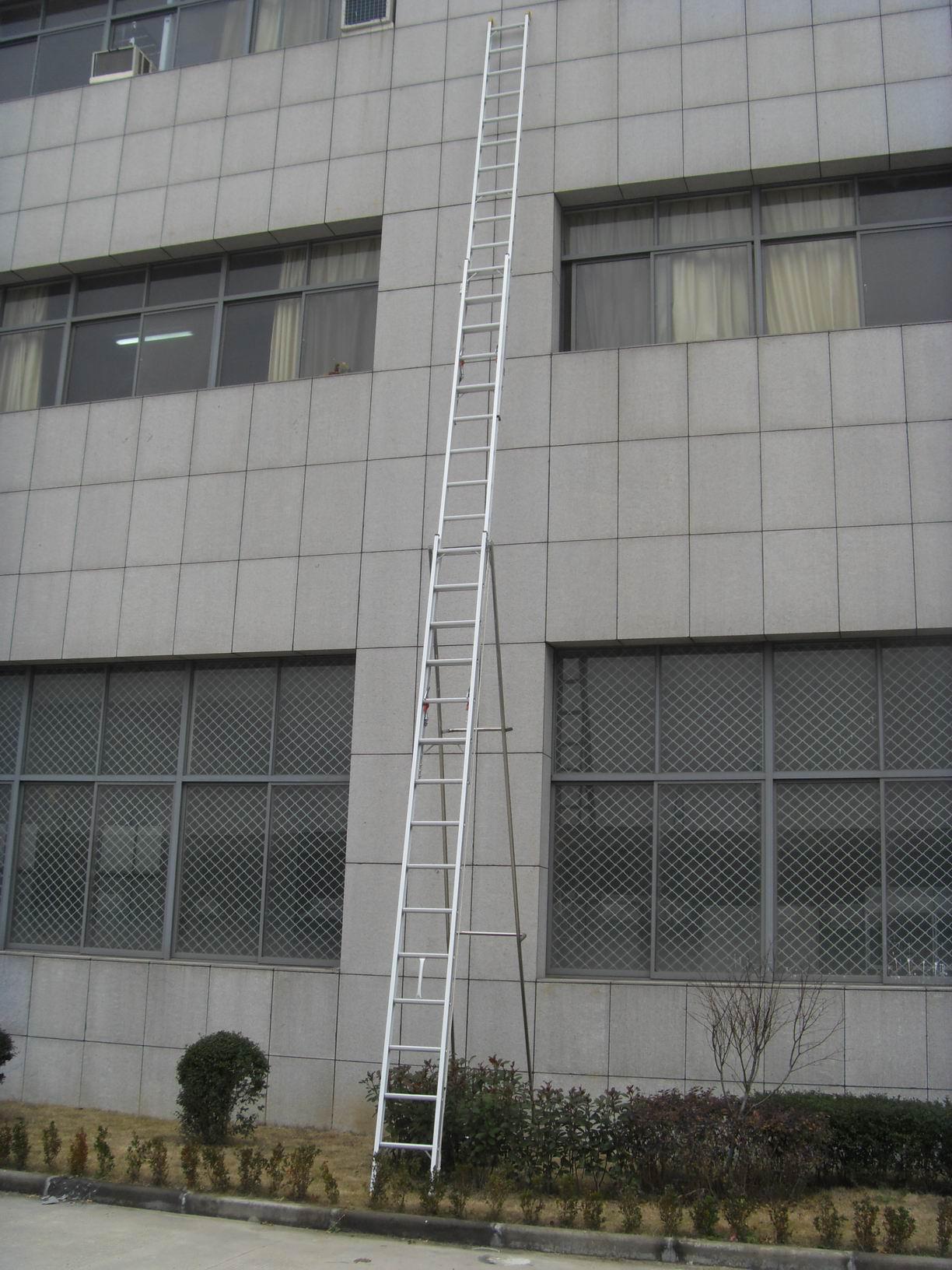 铝合金梯子 13米超高三节拉升梯